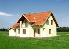 Архитектурный проект коттеджа в стиле минимализм с пятью спальнями