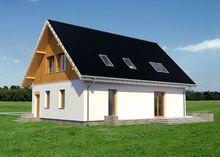 Проект интересного коттеджа с балконом и террасой