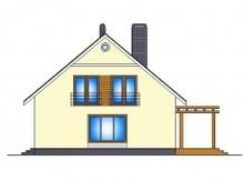 Проект мансардного дома с дополнительной спальней на первом этаже