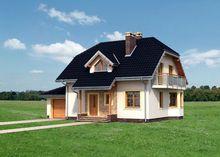 Оригинальный проект небольшого особняка 180 m² с мансардой