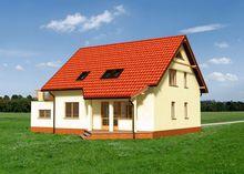 Оригинальный особняк с большим гаражом и балконом-террасой