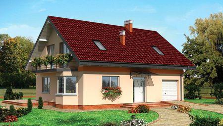 Уютный дом с мансардой для небольшой семьи