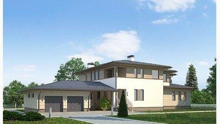 Проект для строительства двухэтажного особняка 530 m²