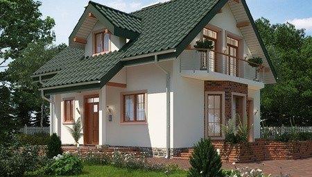 Проект небольшого загородного домика с сауной