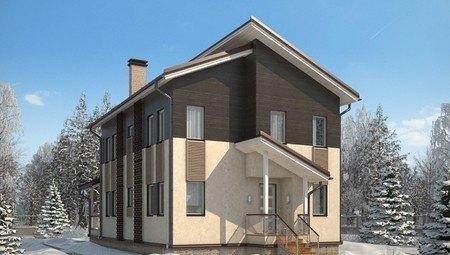 Великолепный проект практичного красивого 2х этажного особняка на 190 m²