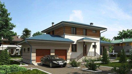 Красивый проект жилого загородного дома 220 m² с террасой