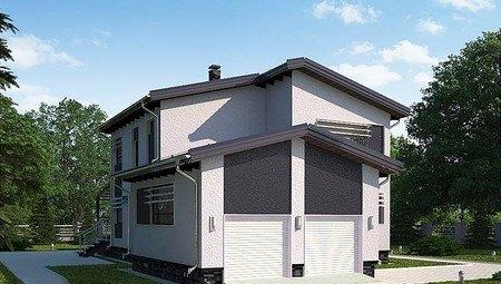 Красивый проект 2х этажного небольшого загородного дома удобной планировки