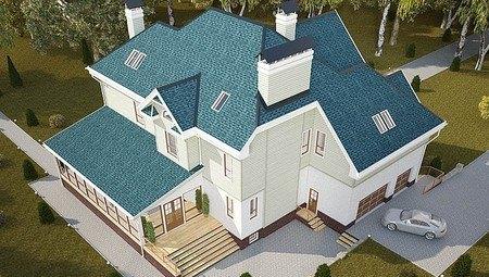 Красивый проект большого просторного загородного коттеджа