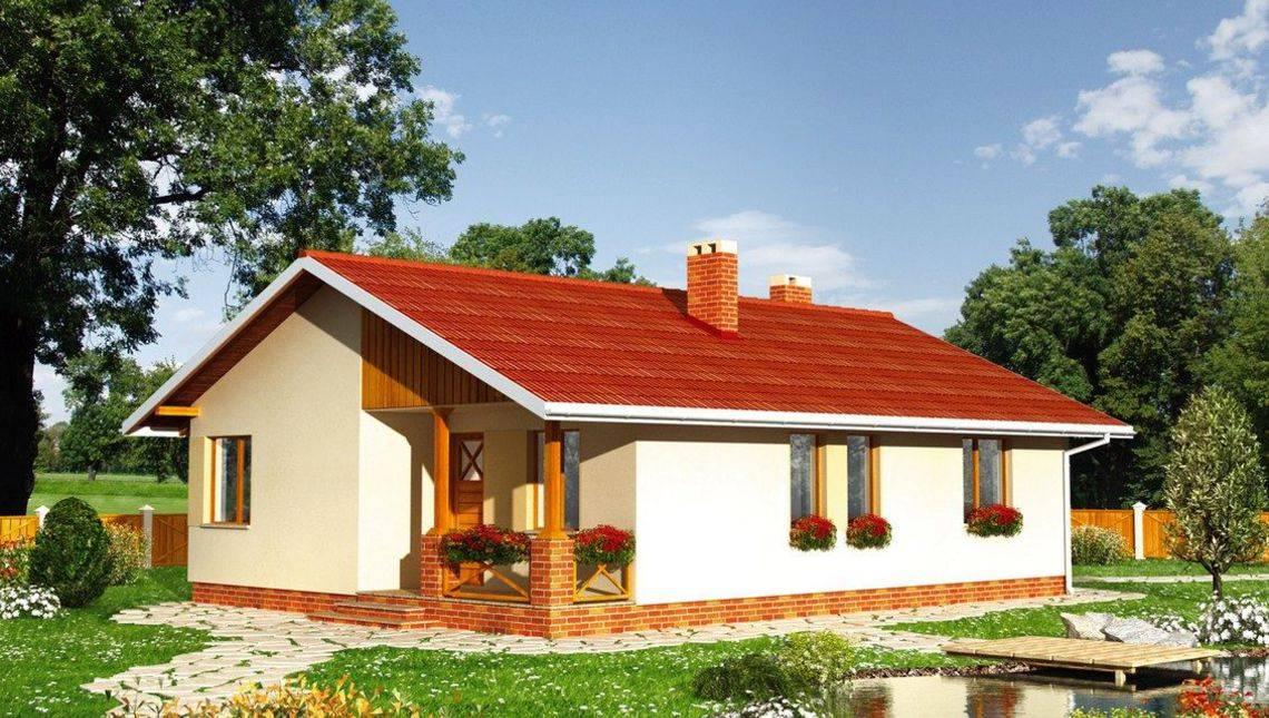 Уютный дом прямоугольной формы 12м на 9м
