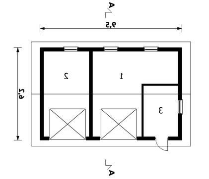 Архитектурный проект отдельного гаража для 2х машин с кладовкой