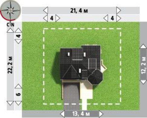 Выделяющийся проект дома с гаражом на две машины в цокольном этаже