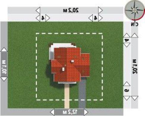 Проект 1,5-этажного коттеджа с пристроенным гаражом