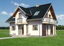 Традиционный проект дома с мансардой площадью до 150 m²