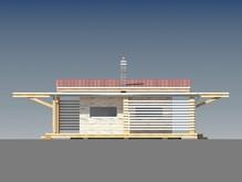 Проект одноэтажного современного коттеджа с 2-я спальнями
