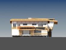 Интересный проект современной виллы со встроенным бассейном