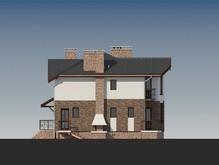 Запоминающийся проект загородного дома с интересной крышей