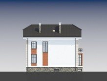 Броский проект особняка с цокольным этажом