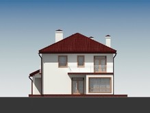 Проект стильного загородного коттеджа с большими окнами