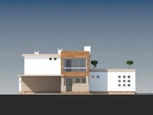 Проект загородного коттеджа хай-тек с большими террасами