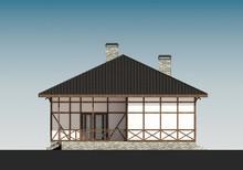 Проект дома с мансардой в стиле шале