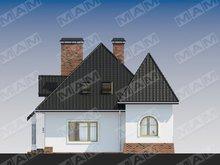 Проект красивого дома с мансардой и цокольным этажом