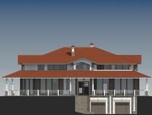 Проект роскошной виллы в американском стиле с гаражом в цокольном этаже
