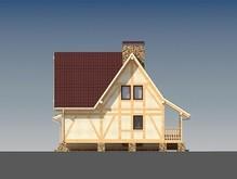 Проект каркасного дома с мансардой