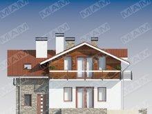 Оригинальный коттедж с комбинированным фасадом