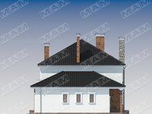Классический двухэтажный коттедж с эркером