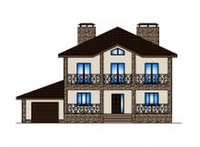 Проект двухэтажного особняка с крытыми террасами
