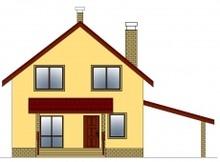 Проект дачного дома с уютным эркером