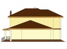 Двухэтажный классический коттедж с сауной