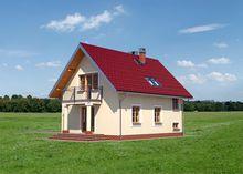 Архитектурный проект симпатичной загородной усадьбы с балконом