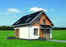 Проект дома с мансардой габаритами 8 на 8
