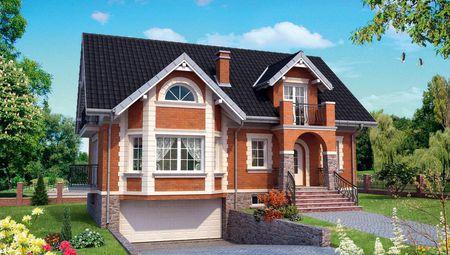 Архитектурный проект интересной двухэтажной виллы с красивым дизайном