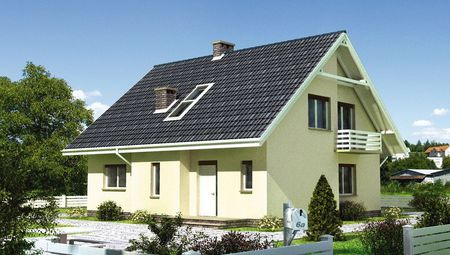 Архитектурный проект мансардного дома 170 m² в традиционном стиле