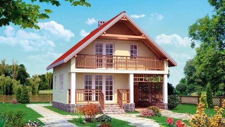 Мансардный дом квадратной формы 9м на 9м