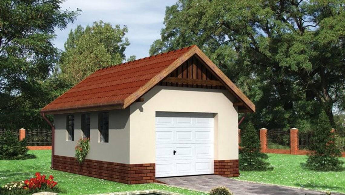 Архитектурный проект гаража 6 на 4 метра