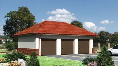 Проект гаража на три машины