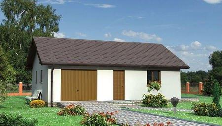 Архитектурный проект гаража с душевой