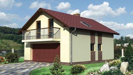 Архитектурный проект гаража с балконом
