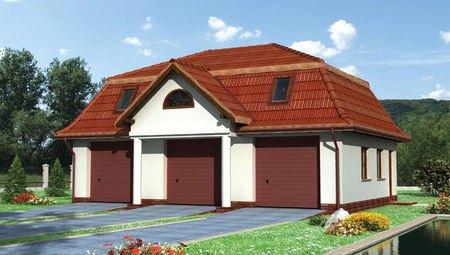 Архитектурный проект гаража на 3 авто