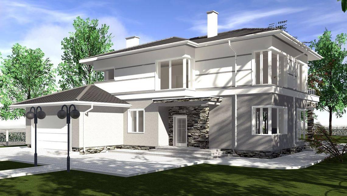 Проект загородной усадьбы площадью 320 m²