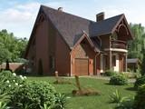 Проект красивого загородного дома с мансардой в классическом стиле