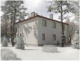 Проект двухэтажной просторной виллы в классическом стиле с гаражом