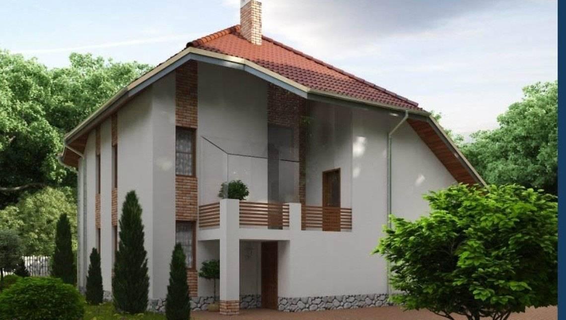 Проект необычного коттеджа с оригинальной архитектурой