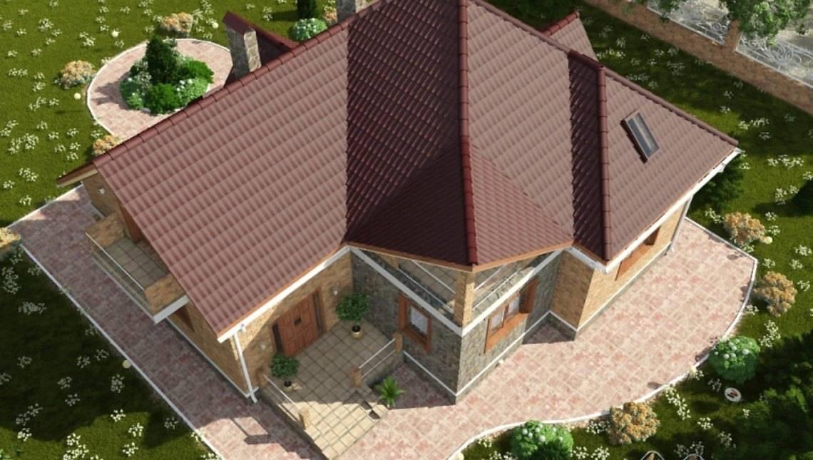Уютный коттедж в английском стиле с кирпичным фасадом