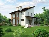 Проект двухэтажного загородного коттеджа
