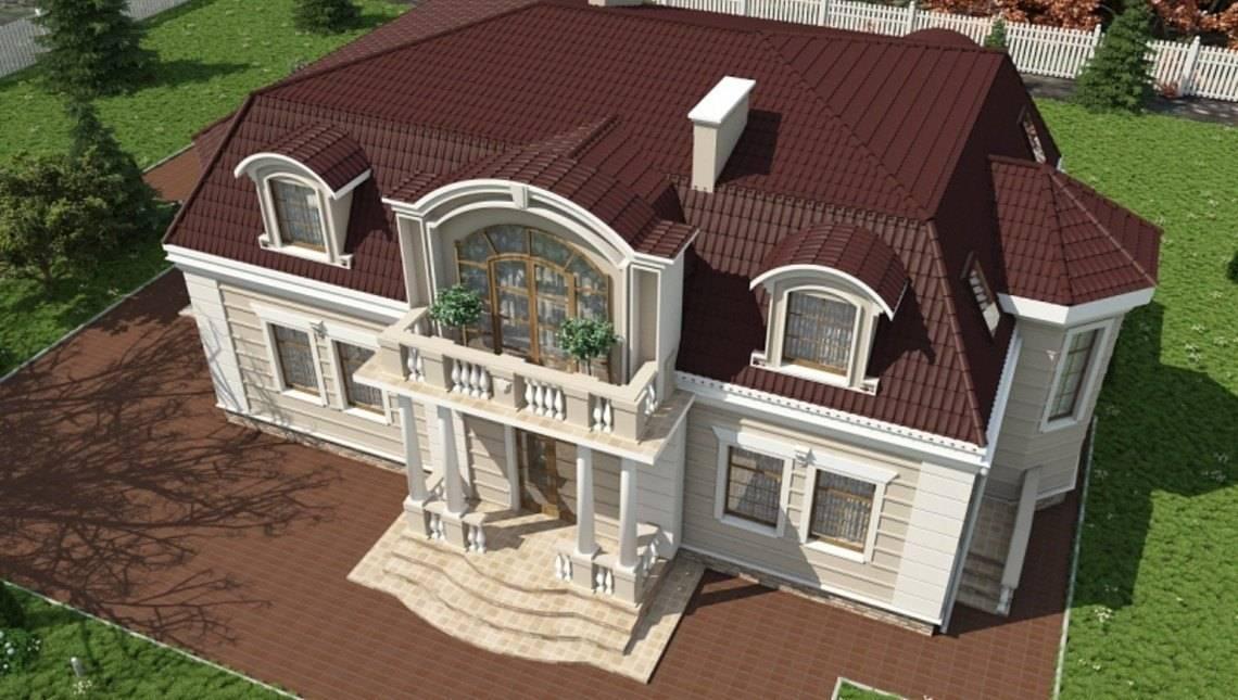 Проект большой виллы в классическом стиле