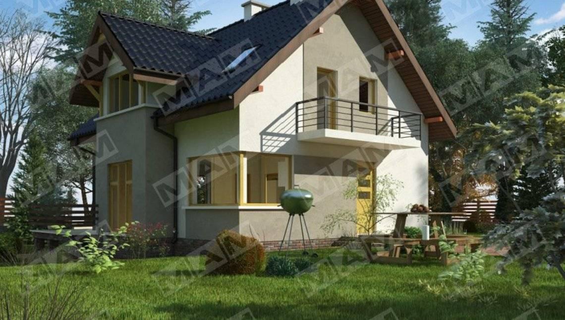 Компактный домик с подвальным этажом и мансардой